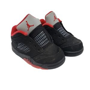 Nike Air Jordan Black Red Baby Boys Toddler  5C